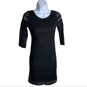 Ardene Black Lace Dress Size S